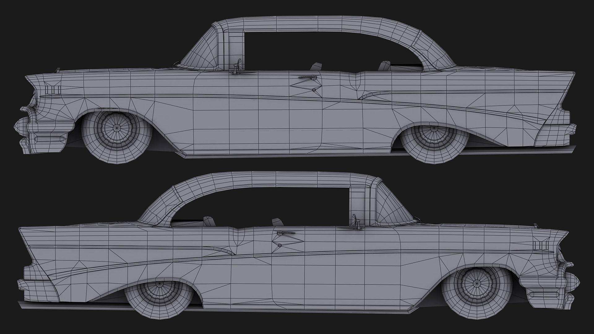 Chevrolet_Bel_Air_1957_Sides_Wireframe